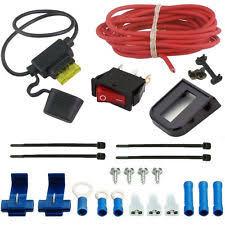 electric fan wiring kit automotive electric radiator fan manual rocker switch wiring kit single toggle