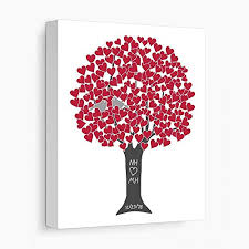 personalized anniversary gift for pas 40th ruby wedding anniversary stretched canvas