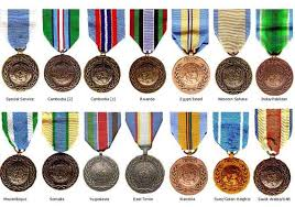 Un Medals Chart United Nations Peacekeepers United Nations Medals United