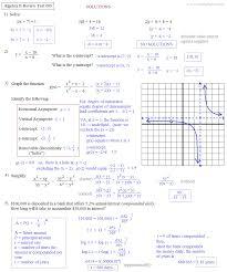 algebra ii review test 005 1 solutions