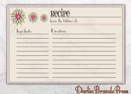 Recipe Card Templates Free Free Recipe Card Template Clipart Images Gallery For Free
