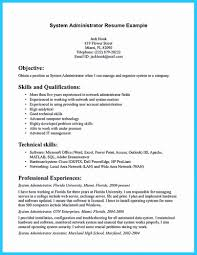 System Administrator Resume Examples Resume Format System Admin Administrator Pdf Experience For Doc 34