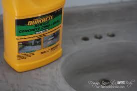 Concrete Sink Diy Diy Concrete Vanity With Integral Sink Remodelaholic Bloglovin