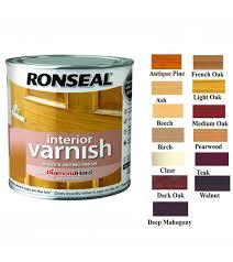 Ronseal Varnish Colour Chart Ronseal Diamond Hard Interior Varnish 250ml Light Oak Satin