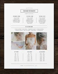 Photography Pricing Template Photography Pricing Template Price List Template Photographer