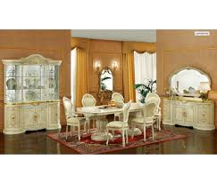 italian lacquer dining room furniture. Leonardo Dining Room Set In Ivory Lacquer Finish By Camelgroup Italian Furniture D