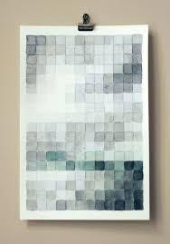 4 watercolor pixel art