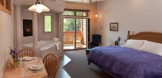 a romantic jacuzzi suite with fireplace steam shower for two and private balcony