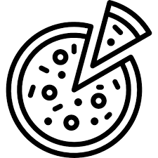 pizza clipart black and white. Png Black And White Stock Pizza Clipart Francesco Bistro Of Inside