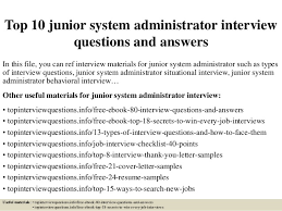 Entry Level System Administrator Resume Sample Best of Top 24 Junior System Administrator Interview Questions And Answers