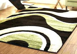 chocolate brown rugs green