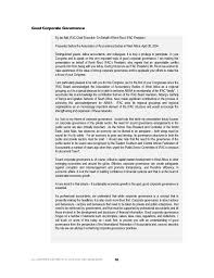 corporate governance in the public sector   associates 5 good corporate governance
