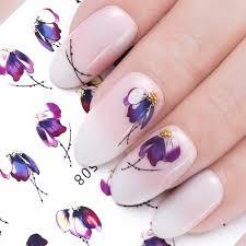 1 шт стикер для ногтей бабочка с изображением цветов переводные