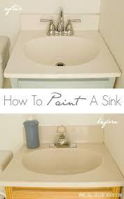paint bathroom sink