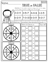 color the true false and spin the spinners to make a number