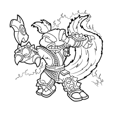 Skylanders Swap Force Colouring Pages Stink Coloring Page