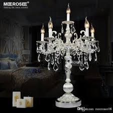 21 inch bronze color vintage desk lamp crystal table light bedroom living room desk light 6 light holders tl3134 wood chandelier chandelier lamp shades from