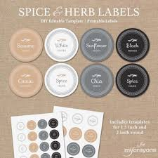 editable spice labels printable diy printable kitchen labels