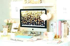 trendy office accessories. Feminine Desk Accessories Trendy Office White With Gold Computer Desktop Background And Home .