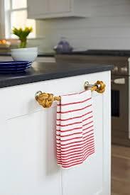 Kitchen towel holder Blue Beach Bungalow Kitchen With Rope Towel Holder Decorpad Beach Bungalow Kitchen With Rope Towel Holder Cottage Kitchen