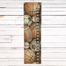 Be The Ball Sports Themed Childs Growth Chart Available As A Canvas Banner Or A Peel Stick Decal