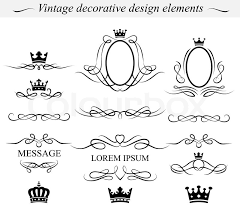 Decorative Design Elements Set of decorative design elements Vector Stock Vector Colourbox 2