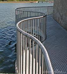 Metal deck railing is both strong and fancy, but will not break