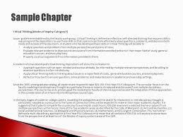 assessment at feet frostburg state university ppt  8 sample chapter critical thinking