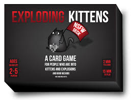 exploding kittens card game. Perfect Game Exploding Kittens  NFSW Edition EN Vengeful  Games Throughout Card Game G