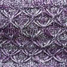 Thistle Knitting Chart W617 Purple Thistle Cowl Free