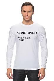<b>Лонгслив</b> Конец Игры (<b>Game</b> Over) #1698136 от fanart по цене 1 ...