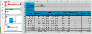 How To Create A Time Sheet Template In Excel