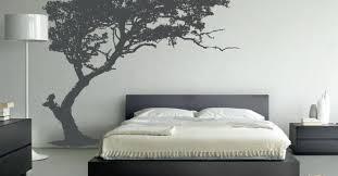 tree wallpaper in the bedroom