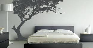 tree wallpaper in the bedroom