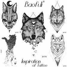 Baofuli звезда лиса временные татуировки стикер водостойкие татуировки