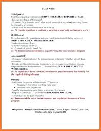 Ot Soap Note Example Occupational Therapy Documentation Examples Awesome Ot Soap Note