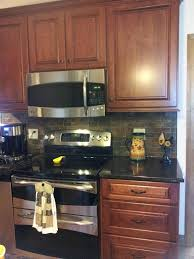 backsplash with cherry cabinets fine kitchen cherry cabinets black counter tile backsplash ideas with cherry cabinets