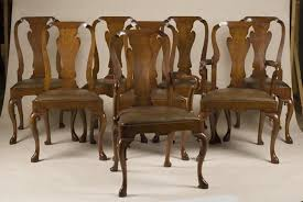 of 8 Queen Anne Style Chairs