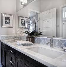 Dark Cabinets, Light Gray Walls, White Counters