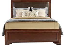 Belcourt Cherry 3 Pc Queen Upholstered Bed Beds Dark Wood