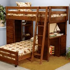 21 top wooden l shaped bunk beds with space saving features this solid ponderosa pine l shaped bunk bed offers custom configuration because the lower bed