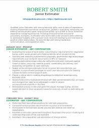 Construction Estimator Resume Sample Estimator Resume Samples Qwikresume
