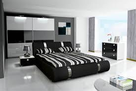 Schlafzimmer NOVALIS Hochglanz schwarz / weiß
