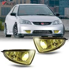 How To Install Fog Lights On Honda Civic 2005 Winjet Wj30 0033 12 Yellow Lens Fog Light Kit Honda Civic