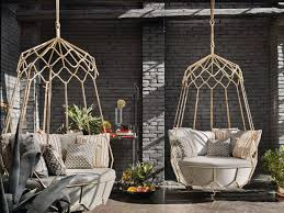 amazing egg style for porch along with hanging outdoor chair