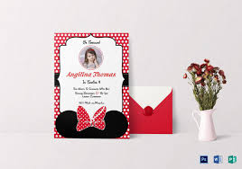 Birthday Card Template Indesign Minnie Mouse Birthday