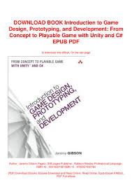 Introduction To Game Design Prototyping And Development Pdf Free Download Download Book Introduction To Game Design Prototyping And