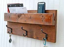 Coat Rack Mail Organizer Rustic Backdoor Coat Rack Mail Organizer Wall Mail Slot Key Rack 5
