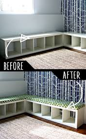 furniture hacks. DIY Furniture Hacks | Padded Bench Out Of Bookshelf Cool Ideas For Creative Do It