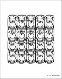Small Picture Clip Art Soup Cans coloring page I abcteachcom abcteach